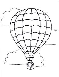 hot air balloon coloring pages free sheets of