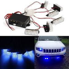 Blue Light Grill Details About Car 6 Bars X 3 Leds Blue Strobe Emergency Flashing Police Warning Grill Lights