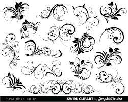 swirls clipart digital swirls clip art vector swirls photoshop Wedding Invitation Flourish Graphics Wedding Invitation Flourish Graphics #23 Handmade Wedding Invitations