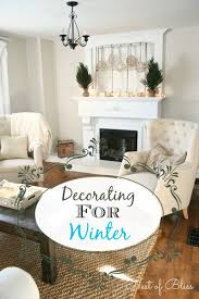 Living Room Mantel Decorating Winter Mantel Decorating For Winter Nest Of Bliss