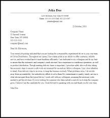 Sample Cover Letter For A Company Driver Milviamaglione Com