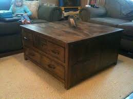 image of rustic storage coffee table image