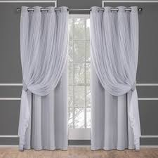 Gray and beige curtains Wall Ati Home Catarina Layered Curtain Panel Pair With Grommet Top Overstockcom Buy Grey Curtains Drapes Online At Overstockcom Our Best Window