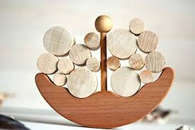 Wooden Balance Toy, Boat Educational Toy for ... - Amazon.com