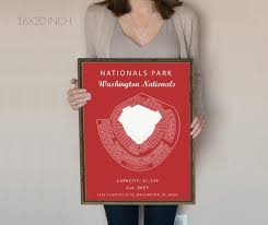 Washington Nationals Seating Chart Detailed Nationals Park Seating Chart Washington Nationals Nationals Park Sign Washington D C Art Mlb Baseball Art Work Poster Nationals Gift