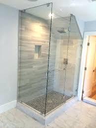 shower with half wall glass panels s walls info desire regarding install block