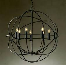 orb chandelier restoration