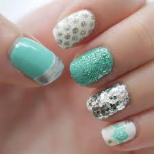 Gel Nails Designs Ideas beautiful soft green cute gel nail design