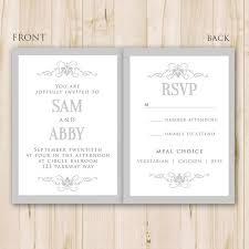 Elegant Wedding Invitation Template Photoshop Psd Instant Download