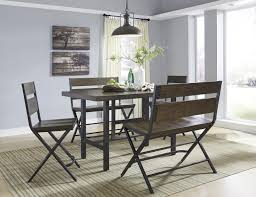 wood rectangular dining table. Signature Design By Ashley Kavara Rectangular Dining Room Counter Table W/ Pine Veneers And Metal Base | Wayside Furniture Pub Tables Wood