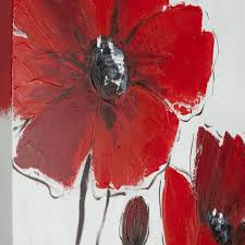 safavieh works of art red poppy 3 piece canvas art free today 14957744