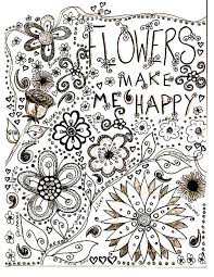 Small Picture Flowers Coloring pages for adults JustColor