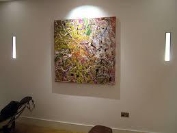 drip painting hanging