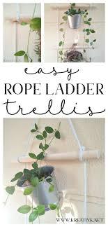Rope Trellis Designs Easy Rope Ladder Trellis For The Garden Diy Trellis Rope