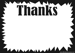 Thank You Black And White Printable All Free Black And White Thank You Notes And Thank You Cards