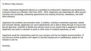 9 Character Letter Of Recommendation Free Sample Example