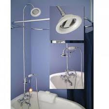 clawfoot tub shower kit beautiful bathroom in blue completed with bathtub shower faucet