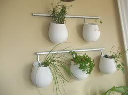 White Hanging Herb Pots
