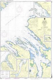 Noaa Chart 17368 Keku Strait Northern Part Including Saginaw And Security Bays And Port Camden Kake Inset
