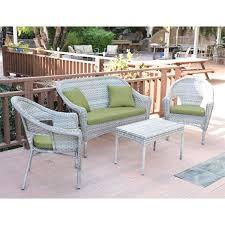 jeco clark 4 piece wicker patio sofa