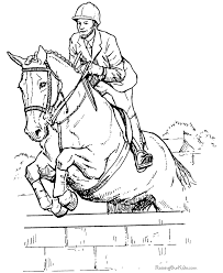 Small Picture Jumping Horse Coloring Sheet
