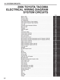 toyota tacoma system circuits fuel injection throttle