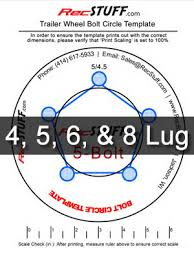 4 Trailer Wheel Bolt Pattern Template 5 Lug Pattern Chart