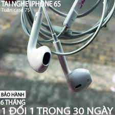 Tai Nghe Iphone 6/6S ⚡FREESHIP⚡ Tai nghe Iphone 6/6S ZIN Bóc Máy Có Hộp ⚡  BH 6 Tháng ⚡Tặng 1 Bao Đựng Tai Nghe- TGDĐ89