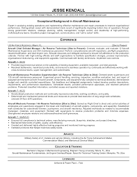 Maintenance Engineer Sample Resume 17 Aircraft Sales Maintenance