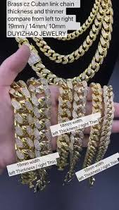 real gold plated hip hop gold tone iced out cz miami cuban link chain choker necklace