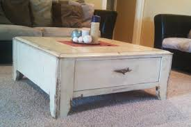 distressed white coffee table will be never out of date