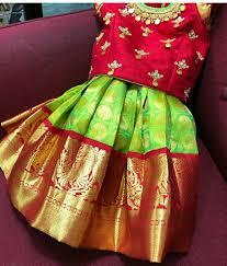 Full Blouse Designs For Children S Pattupavadai Kids Blouse Designs Dresses Kids Girl Kids