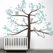 large koala family on tree branch vinyl wall sticker nursery art removable mural stickers for baby