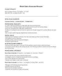 Retail Resume Amazing Resume Sample Retail Retail Sales Resume Sample Resume Examples