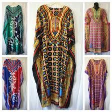 Women African Kaftan Caftan Dashiki Dress Vintage Boho Maxi Gown