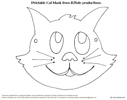 Free Printable Halloween Masks To Color Holiday Party Favors At