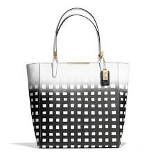 ... Coach Madison Northsouth Tote in Gingham Saffiano Leather in Coach  Madison Mini ...