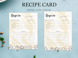 Free Recipe Card Printable Template By Farhan Ahmad On Dribbble