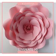 Giant Paper Flower Template Pdf Pdf Paper Flower Paper Flower Template Giant Paper Flower Template Flower Template Diy Base And Instruction Including
