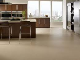 Sumptuous Style Of Best Kitchen Flooring Design With Ceramic Tile Also  Luring Wooden Cabinet And Bar ...