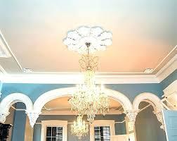 custom ceiling fans. Custom Made Ceiling Fans Medallions Click To Enlarge Final Installation Of Medallion