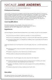 Australian Format Resumes Medical Cv Template