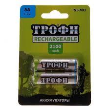 <b>Аккумулятор Трофи</b> HR6 2BL <b>2100 mAh</b> АА / <b>Аккумуляторы</b> купить ...