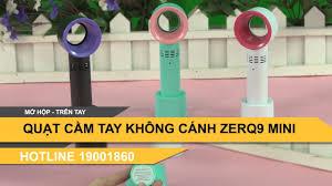 Quạt cầm tay mini không cánh ZERQ9 sẵn hàng tại Hà Nội