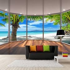 <b>Custom 3D</b> Photo Wallpaper Murals Maldives <b>3D</b> Stereoscopic ...