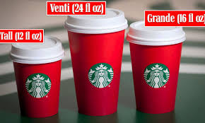 Starbucks Cup Size Chart How Starbucks Drink Sizes Got Their Names Daily Mail Online