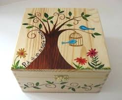 Memory Box Decorating Ideas Wooden Box Decorating Ideas Made Of Wood Painted With Non Toxic 6