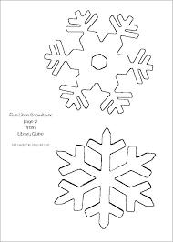 Printable Snowflakes Free Printable Snowflake Stencil