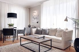 Black And White Living Room Decoration. View Larger