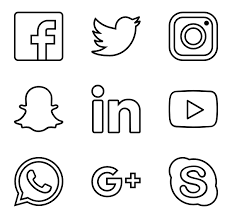 Social Media Icons Vector Png At Getdrawingscom Free For Personal